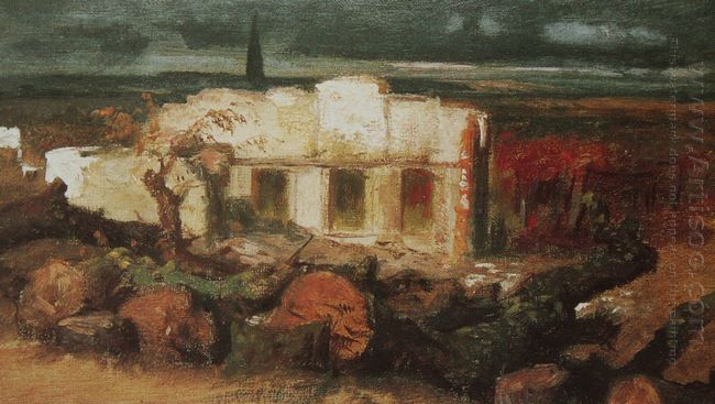 destroyed house in kehl 1870
