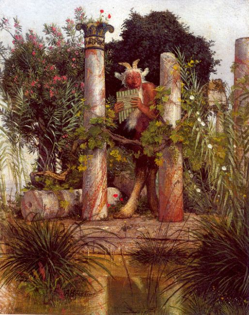 idyll pan amidst columns 1875