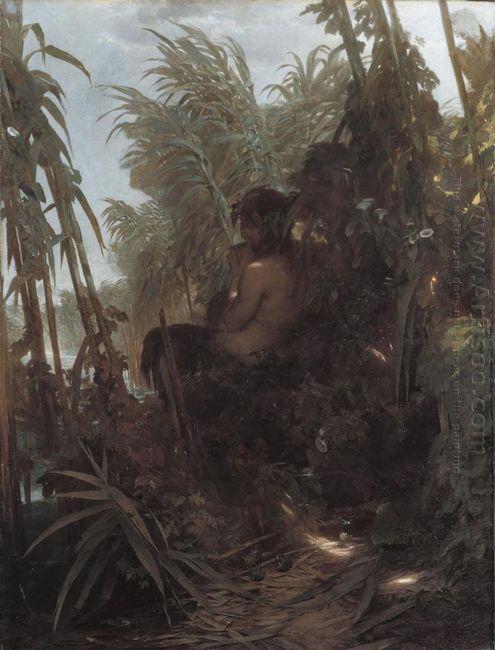 pan among the reeds 1858