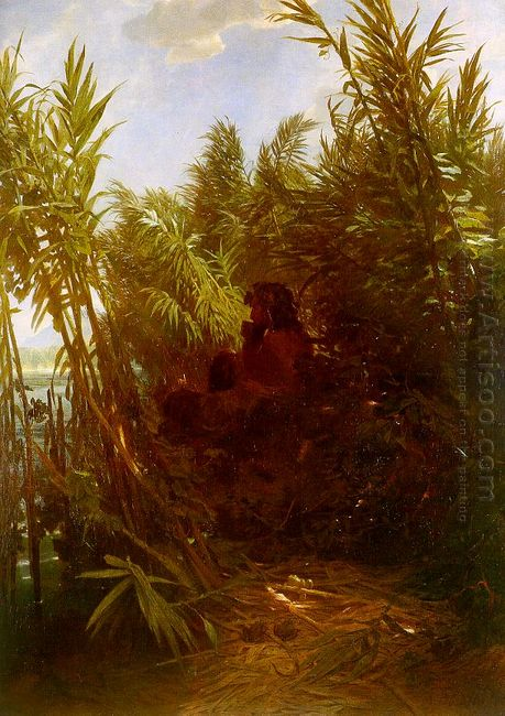 pan among the reeds 1859