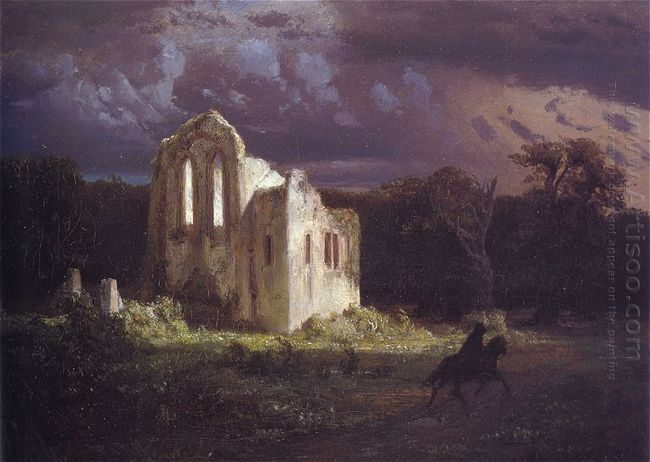 ruins in the moonlit landscape 1849