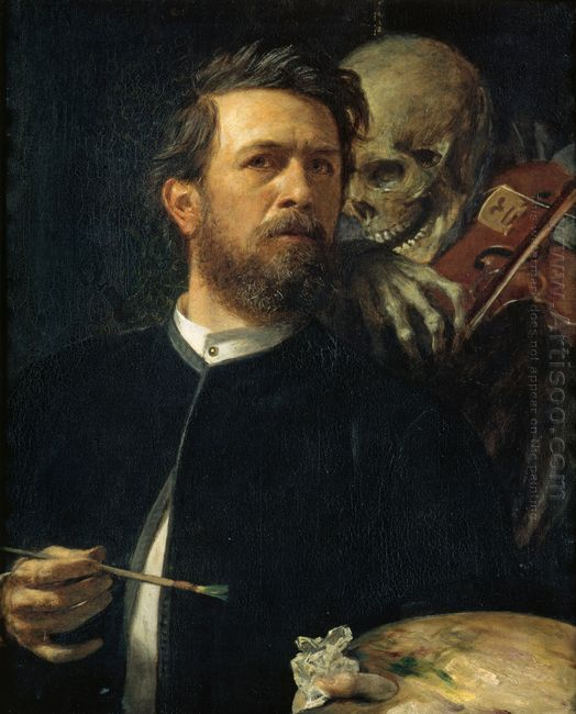 self portrait with death as a fiddler 1872