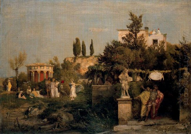 tavern in ancient rome 1867