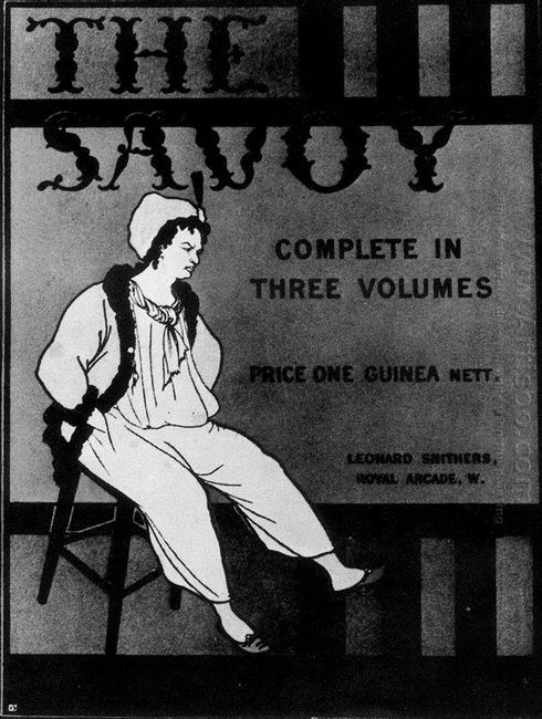 design for the front cover of the savoy complete in three volume