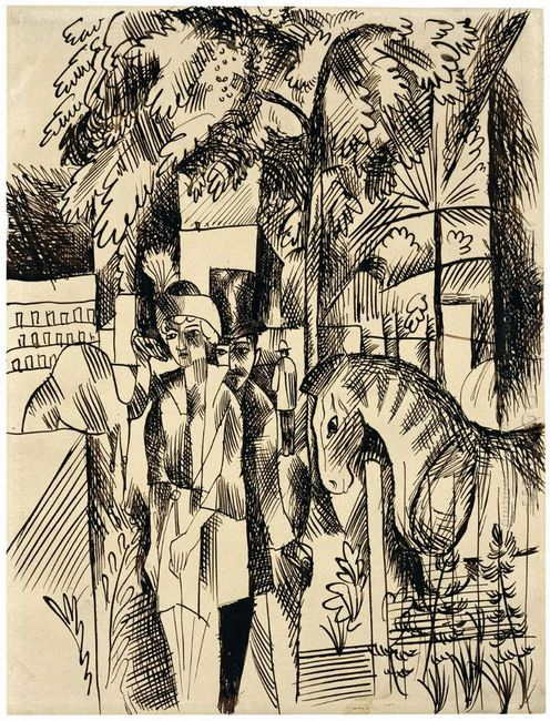 in the zoological garden 1914