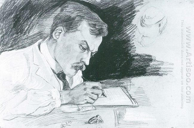portrait of dr ludwig deubner writing