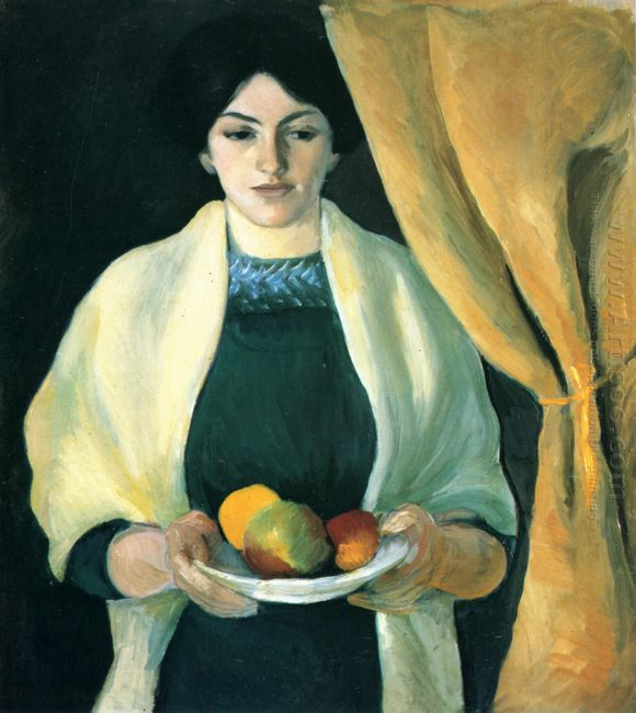 portrait with apples portrait of the artist s wife