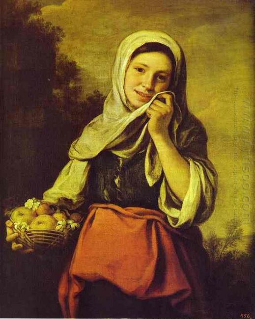 A Girl With Fruits 1660