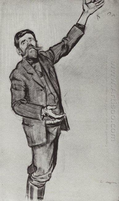 Agitator Man With Arm Raised 1906