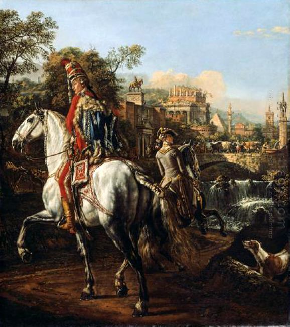 A Hussar On Horseback 1773