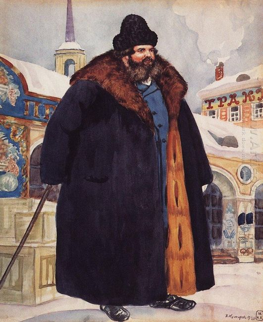 A Merchant In A Fur Coat 1920