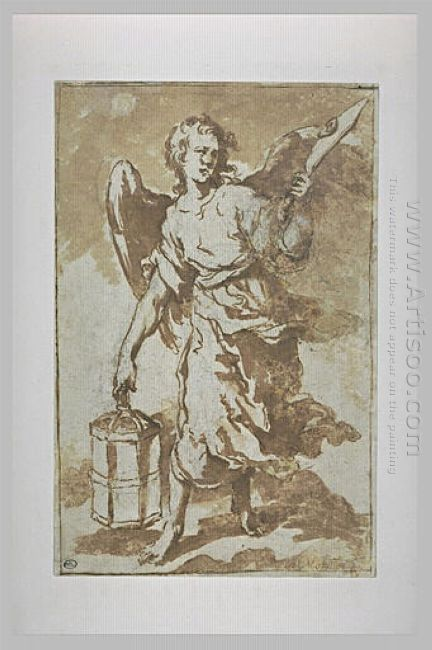 Angel Holding The Lantern And The Sword That Was Used To Cut The