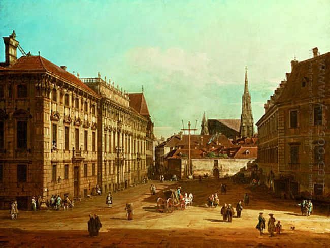 A View Of The Lobkowicz Palace In Vienna 1761