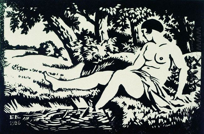 Bather Seated On The Shore 1926
