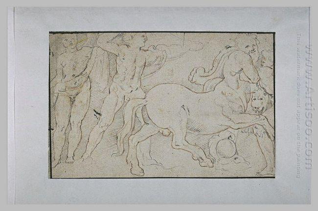 Battle Of Centaurs And Greek