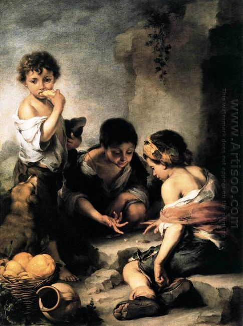 Boys Playing Dice 1675