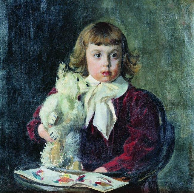 Boy With Teddy Bear 1907