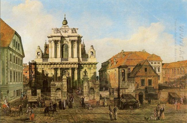 Carmelite Church In Warsaw 1780
