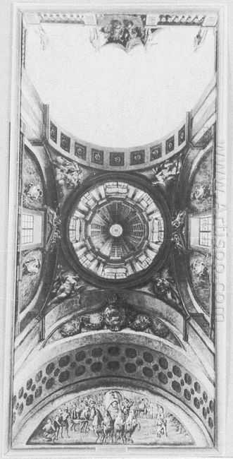 Ceiling Decoration Design Of A Hall In The Ujazdów Castle