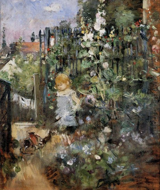 Child In The Rose Garden