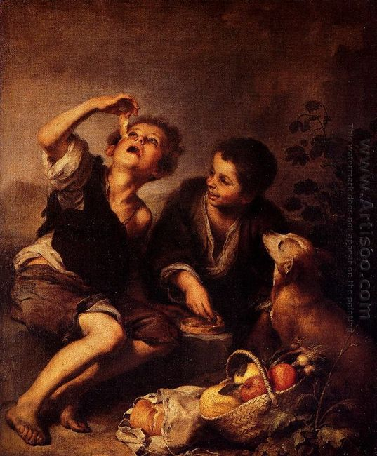 Children Eating A Pie 1675