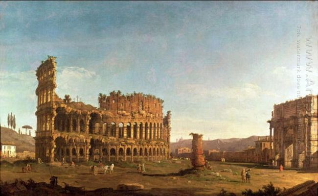Colosseum And Arch Of Constantine Rome