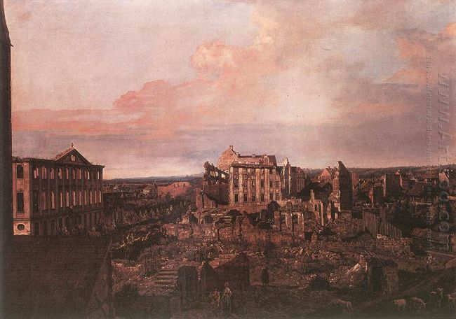 Dresden The Ruins Of The Pirnaische Vorstadt 1763