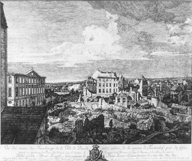 Dresden The Ruins Of The Pirnaische Vorstadt 1766
