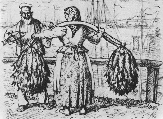 Dried Fish Merchant 1924