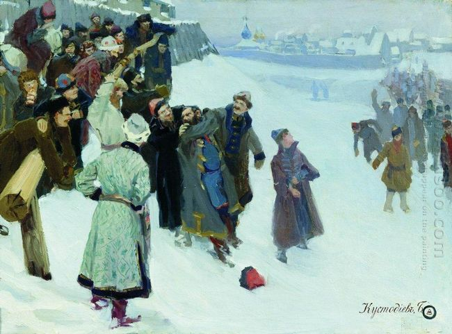 Fist Fight On The Moscow River 1897