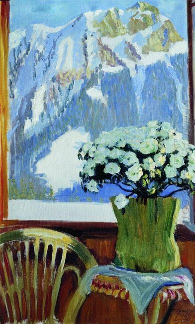 Flowers On The Balcony 1912