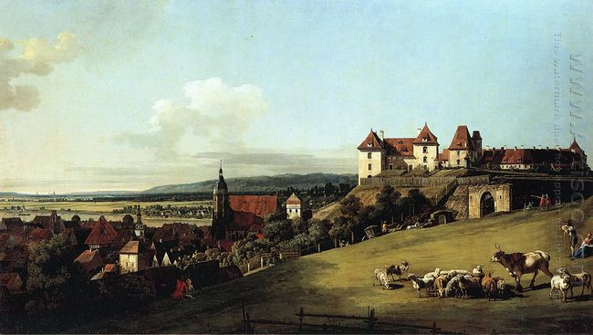 Fortress Of Sonnenstein Above Pirna 1756