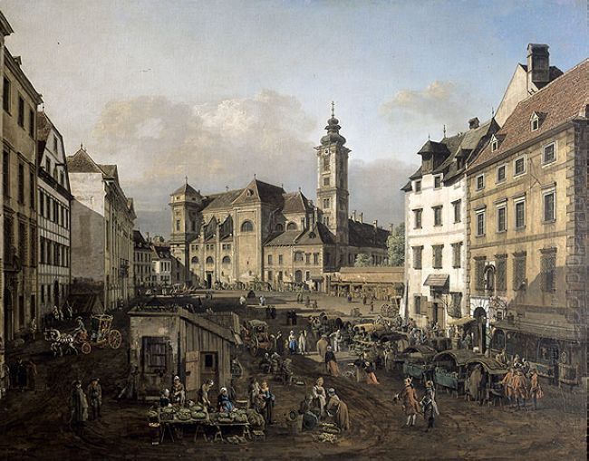 Freyung In Vienna View From The Southeast 1758