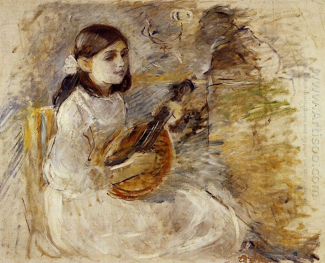 Girl Playing The Mandolin