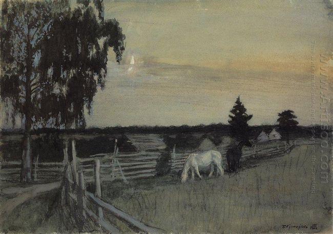 Grazing Horses 1909