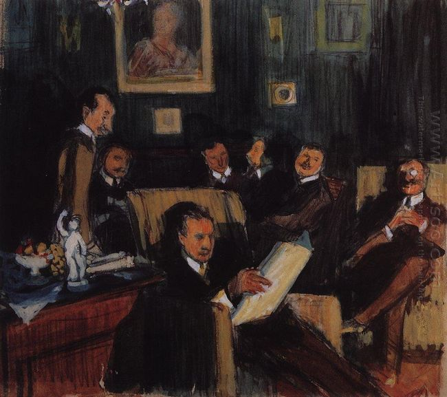 Group Portrait Of Painters Of The World Of Art 1910