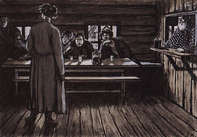 Illustration For Singers By Ivan Turgenev 1908