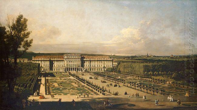 Imperial Summer Palace Of Schönbrunn Garden Façade 1758