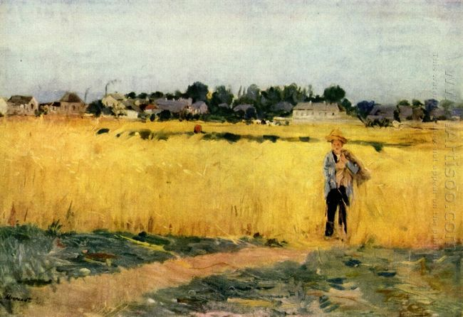 In The Wheatfield At Gennevilliers 1875