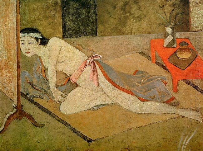 Japanese Girl With By The Red Table 1967
