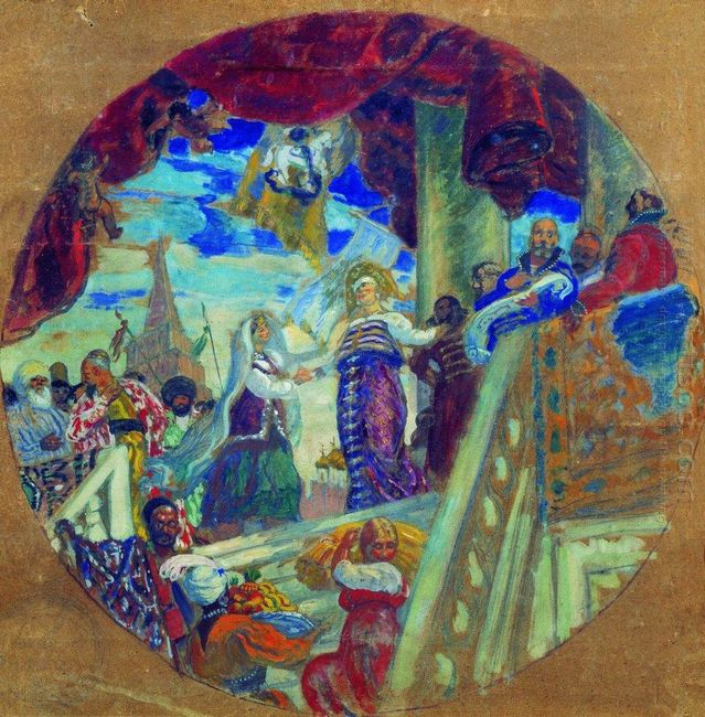 Joining Kazan To Russia Allegory 1913 1