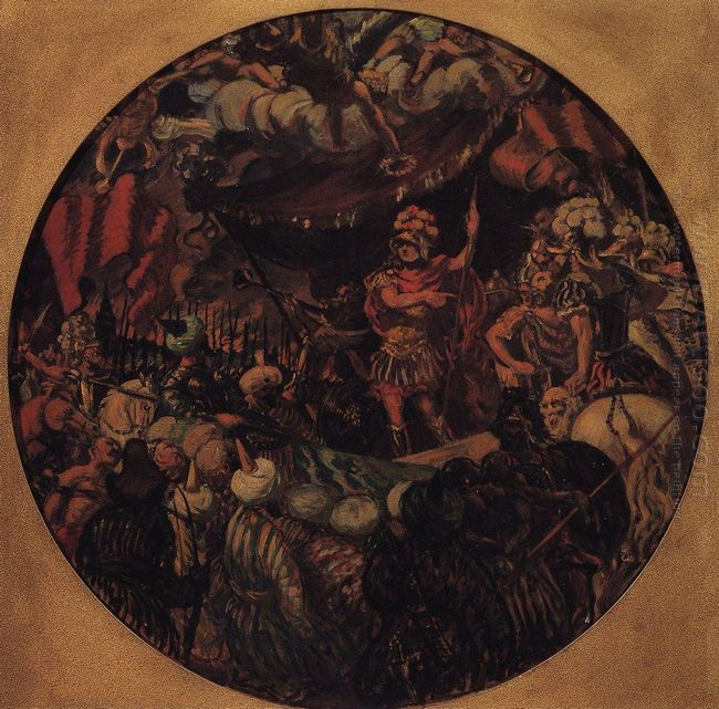 Joining Kazan To Russia Allegory 1913