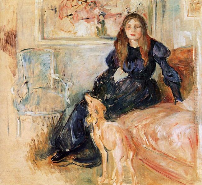 Julie Manet And Her Greyhound Laerte 1893