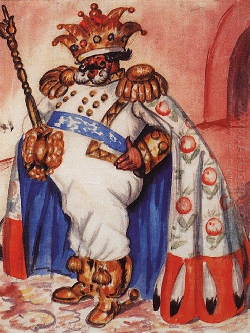 King Wearing A Crown And Purple 1925