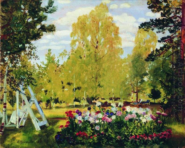 Landscape With A Flowerbed 1917