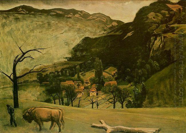 Landscape With Oxen 1942