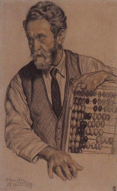 Man With Accounts V A Kastalsky 1917