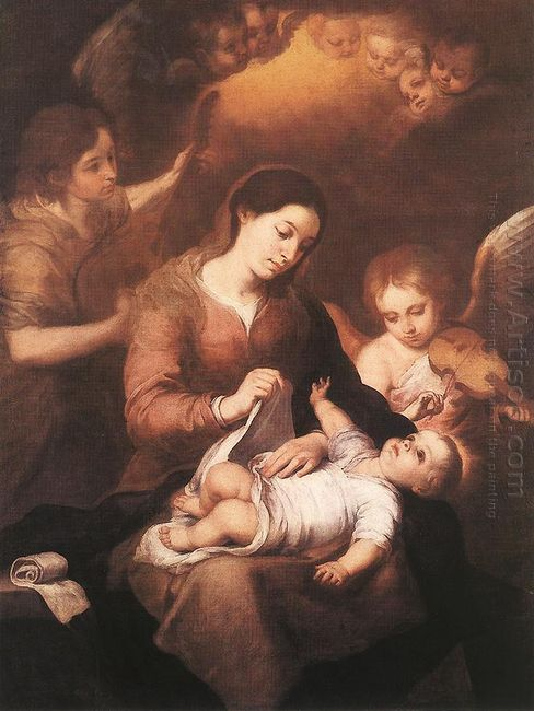 Mary And Child With Angels Playing Music 1675