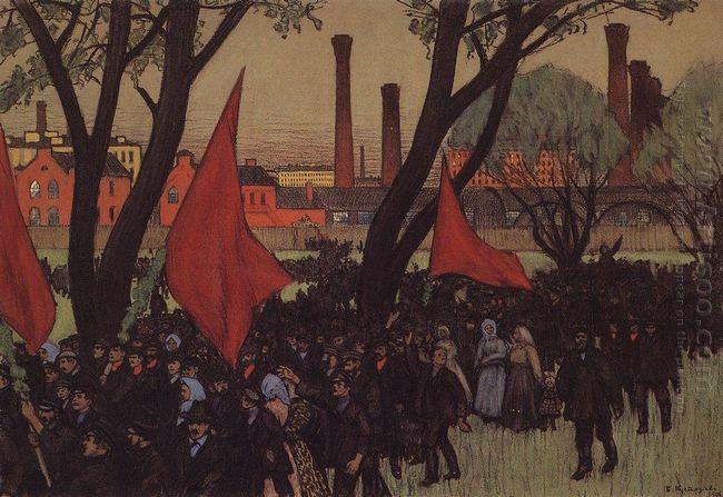 May Day Demonstration In Putilov 1906