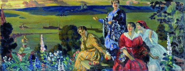 Mercahnt S Wifes On The Volga 1917